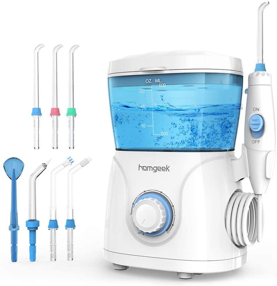 Irrigador dental con depósito aparte